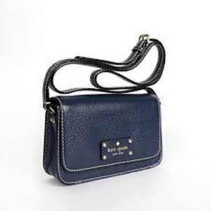 Navy Kate Spade crossbody WITH DUST BAG